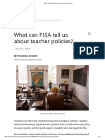 What Can PISA Tell Us About Teacher Policies