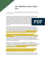 El 68 Mexicano Tlatelolco, Contra El País de Pies de Barro
