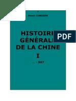 Histoire générale de la Chine et de ses relations avec les pays étrangers. Tome I (…-907)