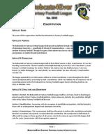 2018 B4EFFL Constitution