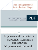 Implicancias Pedagógicas Del Pensamiento de Jean Piaget