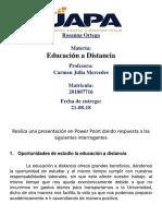 Tarea de Educacion a Distancia de Rosanna Ortega 21-08-2018