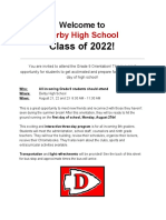 DHS Grade 9 Orientation