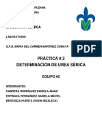 Práctica 2 Determinación de Urea