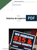 Salarios de Supervivencia