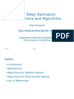 Time delay estimation