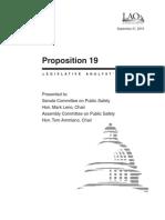 CA LAO (Legislative Analyst Office) Handout Reviewing Prop.19 (2010)