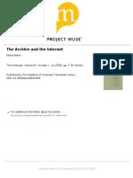 R Adorno-The Archive and the Internet Copy