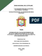 Tesis Optimización Del Plan de Mantenimiento Del Motor de Combustión Interna de Ciclo Diesel Aplicando La Metodología Seis Sigma en Komatsu Mitsui Maquinarias Perú