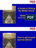 A Guide to Writing the Model Article. Stella Hurtley Senior Editor, Science