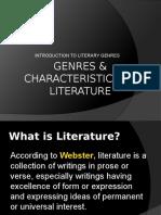 Genres & Characteristics of Literature