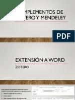 Complementos de Zotero y Mendeley