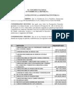 Faride Raful Proyecto Ley Reorganización Administración Pública Versión Octubre 17