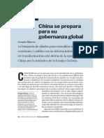 China se prepara para su gobernanza