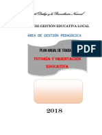 Plan de Tutoria Ugel 2018