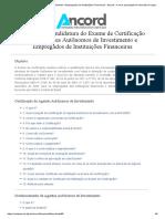 Manual Agentes Autônomos de Investimento e Empregados de Instituições Financeiras