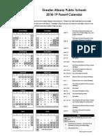 Greater Albany Public Schools Calendar