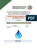 Fuentes de Abastecimiento de Agua Del Cusco