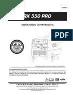 Manual de Operacion Rx 550 Pro