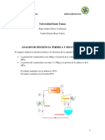 Anlisis de Eficiencia Termica y 2 Ley