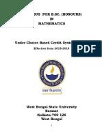 Mathematics Honours Cbcs Draft Syllabus