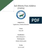 TAREA 3 DE LEGILACIONY GESTION EDUCATIVA .docx