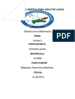 Didactica de La Matematica Tarea 2 Diomaris