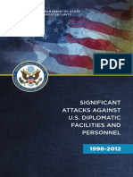 SIGNIFICANT ATTACKS AGAINST U.S. DIPLOMATIC FACILITIES AND PERSONNEL 1998-2012