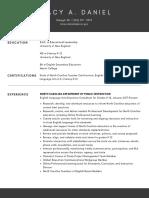 resume for posting