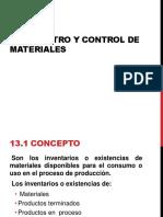 13 Registro y Control de Materiales