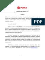 Informe PDVSA 2010