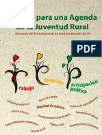Aportes Agenda Juventud CIPCA