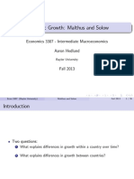 6 - Growth Malthus Solow