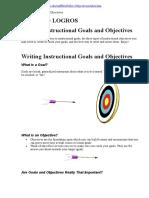 redactar objetivos