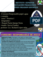 Cosumo Reponsable Del Papel ,Agua Energia