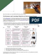 Objet de Aprendizaje y Performance en Diseño Instruccional