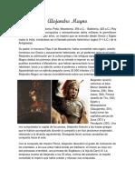 Biografía de Alejandro Magno.