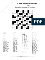 CrossNumber Puzzle