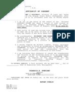 Affidavit of Consent - Nang Flora
