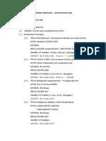 Informe Trimestral - Investigación 2018