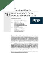 FUNDAMENTOS DE LA FUNDICIÓN DE METALES