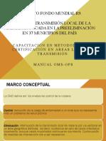 Capacitación en Metodología de Certificación en Áreas Libres de Transmisión.