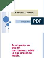 VALIDEZ DE CONTENIDO