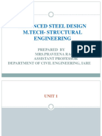 Advanced Steel Design Ppt in PDF