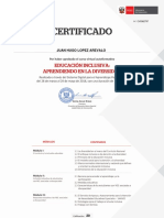 CERTIFICADO EDUCACION INCLUSIVA