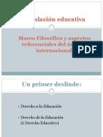 2. Marco Filosófico de La Legislación Educativa.