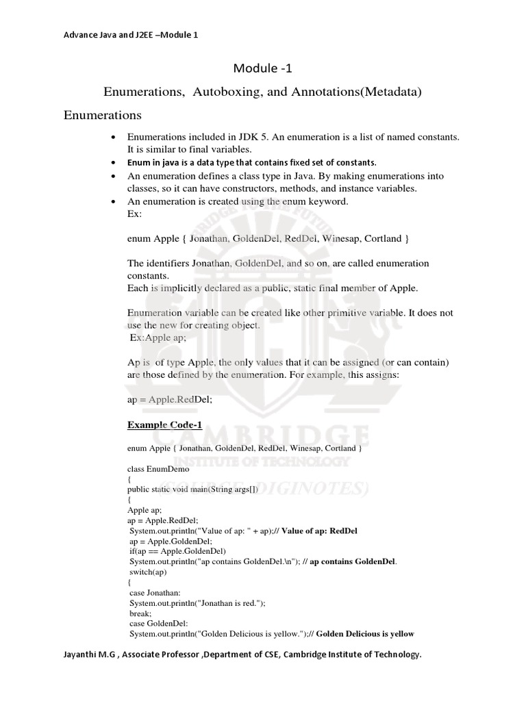 Advanced Java VTU Mod 1   Method (Computer Programming