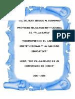Villa Maria Proyecto Educativo Institucional-2017