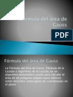 Fórmula Del Área de Gauss