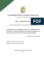 DETERMINACIÓN DE LA BRECHA DE INSCRIPCIÓN DE CONTRIBUYENTES DE LA CIUDAD DE ZAMORA